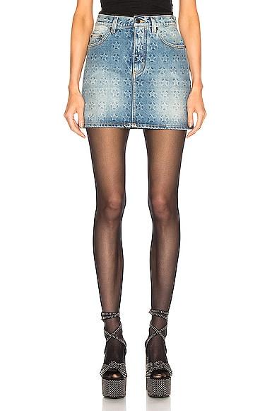 Embossed Star Classic Skirt