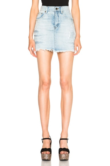 Repaired Denim Mini Skirt