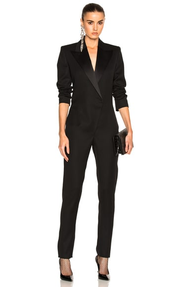 Satin Lapel Jumpsuit