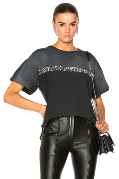Oversized Love Me Forever or Never Tee