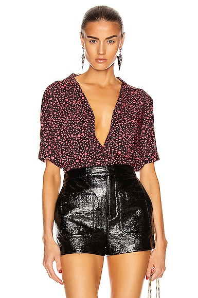 Leopard Short Sleeve Top