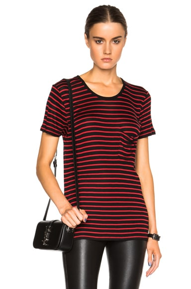 Classic Crew Neck Striped Tee