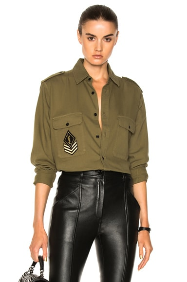 Oversized Army Shirt