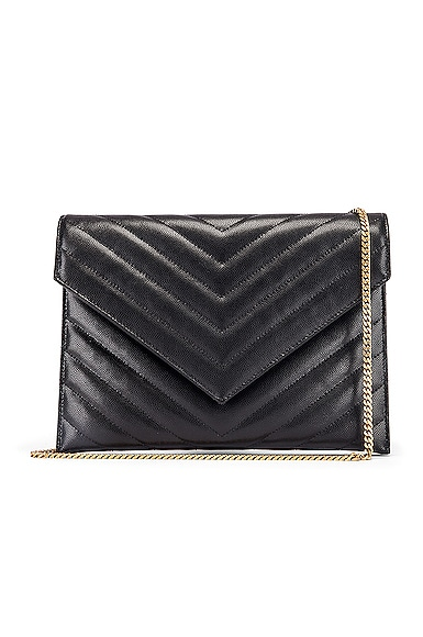 Leather Tribeca Chain Wallet Bag