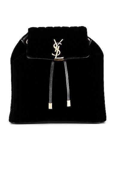 Velvet Monogramme Vicky Backpack