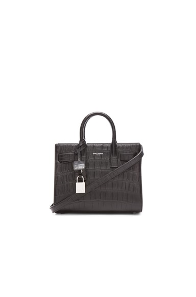 Nano Sac De Jour Embossed Croc Carryall Bag