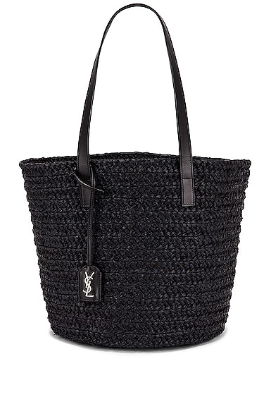Medium Panier Raffia Bag