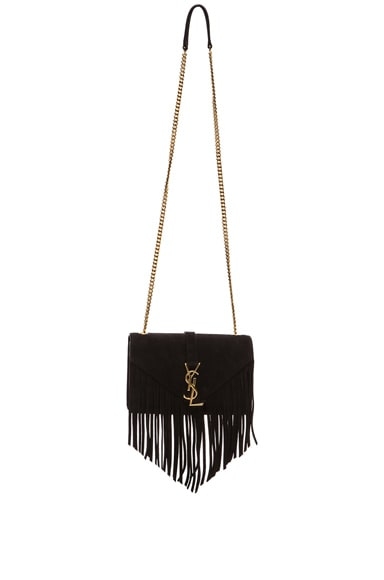 Small Suede & Fringes Monogram Chain Bag