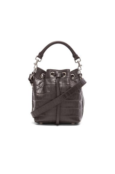Croc Effect Small Emmanuelle Bucket Bag