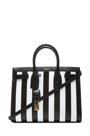 Small Sac Du Jour Striped Carryall Bag