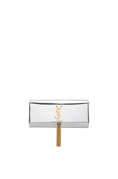 Mirror Monogram Clutch with Tassel