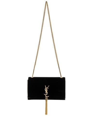 Velvet Monogram Chain Bag