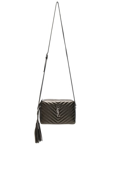 Medium Metallic Monogramme Lou Satchel