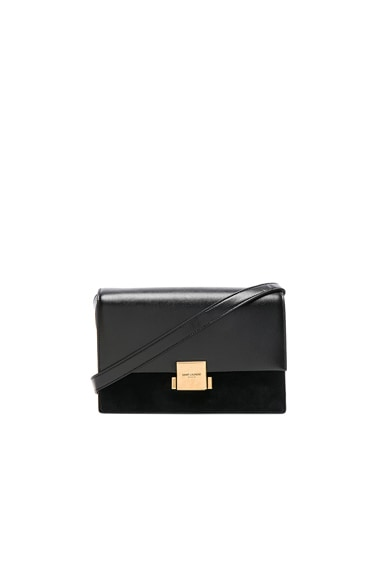 Medium Leather & Suede Bellechasse Satchel