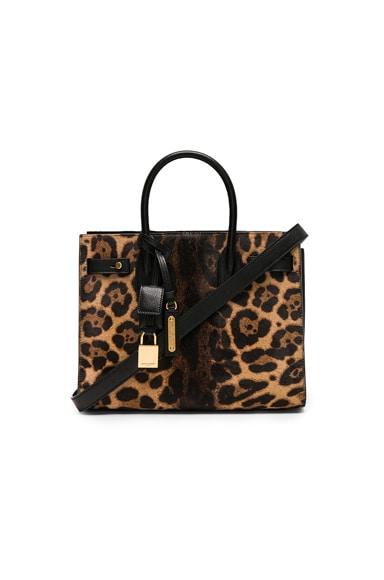 Baby Supple Leopard Print Ponyhair Sac de Jour