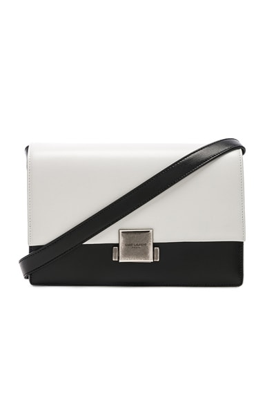 Medium Colorblock Leather Bellechasse Satchel
