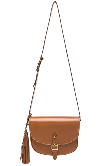 Medium Leather Besace Satchel