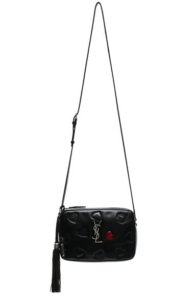 Medium Supple Heart Embroidered Monogramme Lou Satchel
