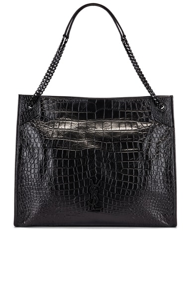 Niki Monogramme Croc Shoulder Bag