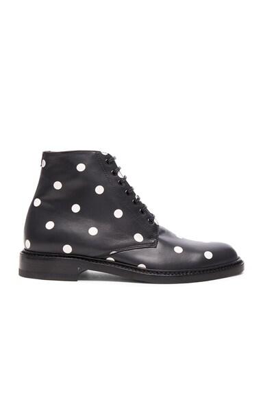 Leather Polka Dots Lolita Boots