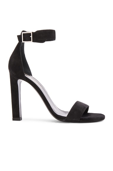 Suede Grace Ankle Strap Heels