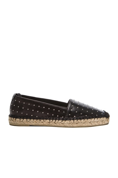 Studded Leather Espadrilles