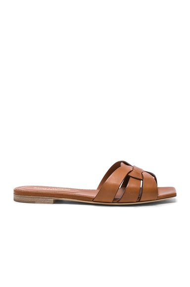 Leather Nu Pieds Slides