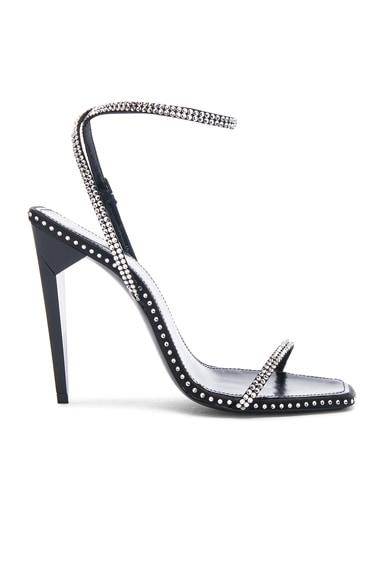 Freja Crystal Embellished Ankle Strap Heels