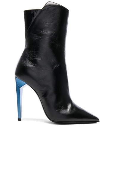 Leather Freja Zip Booties