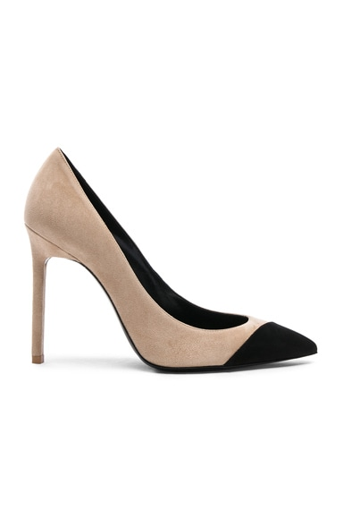 Suede Anja Cap Toe Pumps