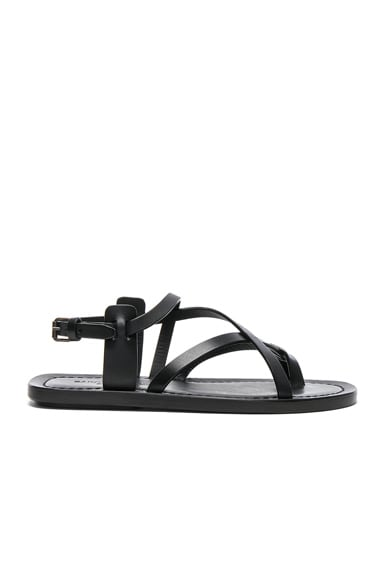 Leather Nu Pieds Strappy Sandals