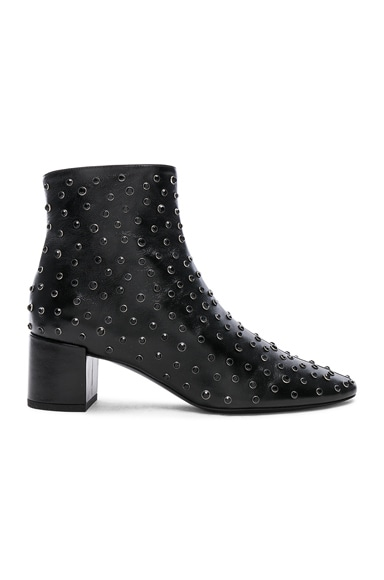 Loulou Studded Leather Ankle Boots