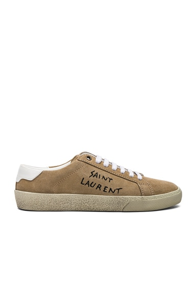 Embroidered Suede Court Classic Sneakers