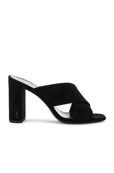 Loulou Suede Pin Mules