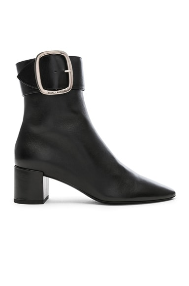 Leather Joplin Buckle Ankle Boots