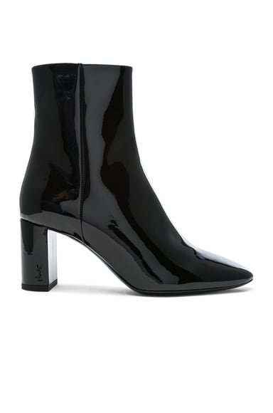 Patent Leather Pin Lou Ankle Boots