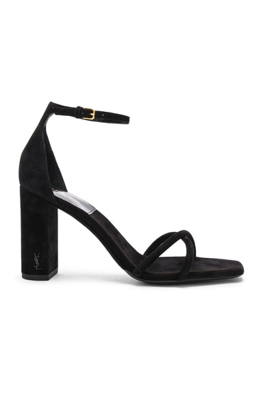 Suede Pin Loulou Ankle Strap Sandals