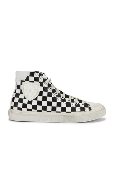 Bedford Checkered Mid Top Sneakers