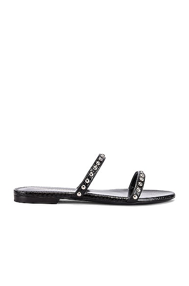 Saint Laurent Gia Stud Sandals In Black