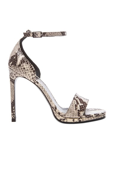 Jane Embossed Python Leather Sandals