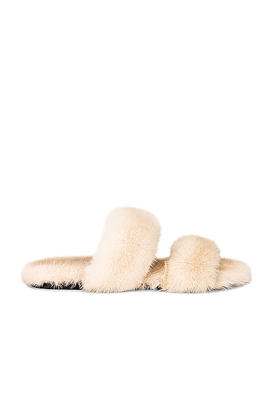Saint Laurent BLEACH FLAT SANDALS