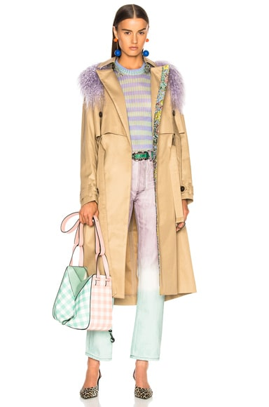 Leesi Trench Coat With Lamb Shearling