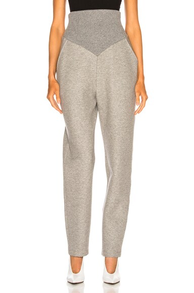 Cotton Jersey Corseted Sweatpant