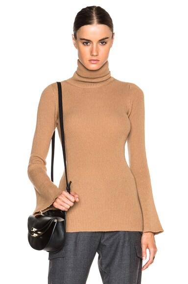 Soft Ribs Turtleneck Sweater