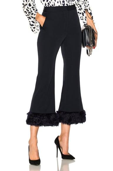 Malina Faux Fur Trim Trousers