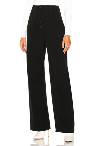 Fabienne Wool High Waisted Trousers