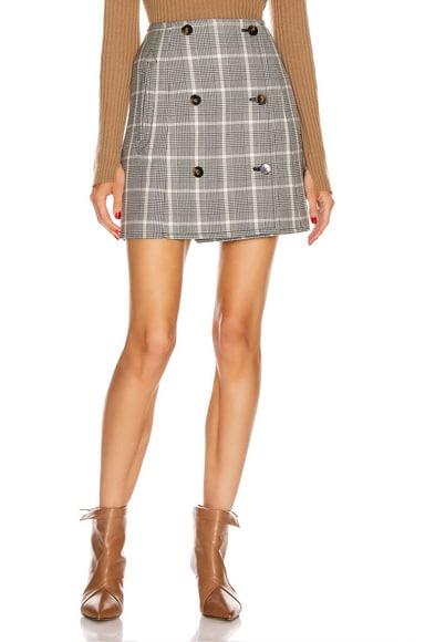 Alexandra Button Mini Skirt