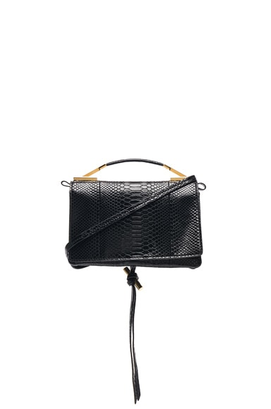 Small Snakeskin Embossed Shoulder Bag