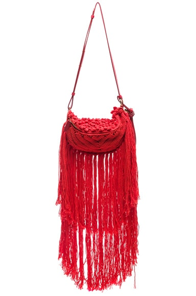 Small Macrame Hip Bag