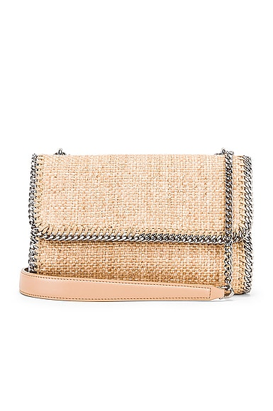 Rafia Falabella Shoulder Bag